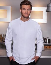 Langarm Überwurf-Kochhemd Basic
